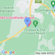 RACV Goldfields Resort map