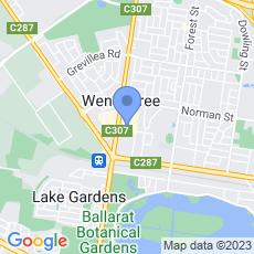 Westpac - Wendouree Branch map