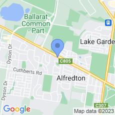 Ballarat Golf Club map