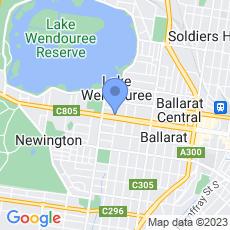 Bendigo Bank - Ballarat West map