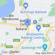Flight Centre Tailor Made Ballarat map