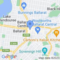 Ballarat Regional Tourism map