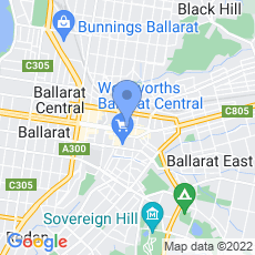 Vacuums Ballarat map