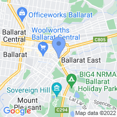 Ballarat Photography map